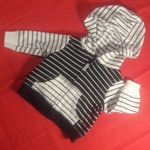 Carter's Newborn black and white zippered hoodie